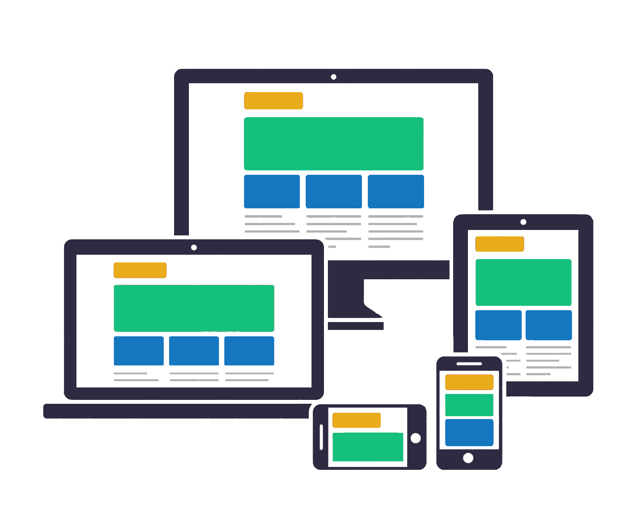 What is responsive web design - The Solution Was To Create A Responsive Website Design Newer Responsive Websites Target For Mobile By Assigning A Column Width Based Upon The Resolution Of