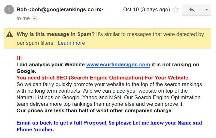 Email Spam Precautions Sacramento Web Design